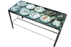 "Glass Top Film Canister Coffee Table (SOLD) • <a style=""font-size:0.8em;"" href=""http://www.flickr.com/photos/80301931@N08/9149760624/"" target=""_blank"">View on Flickr</a>"