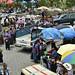 Vie trafficate nel giorno di mercato in Santiago de Atitlan