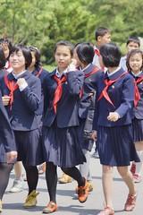 Young Pioneers North Korea (Joseph A Ferris III) Tags: kids walking northkorea unifrom pyongyang dprk youngpioneers juche