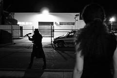 Spellbound (Creepella Gruesome) Tags: street light blackandwhite building night dark scary gate shadows sinister eerie creepy spooky mysterious horror nightmare cinematic filmnoir phantasm pickaxe creepellagruesome theshadowcreep captaincreepy