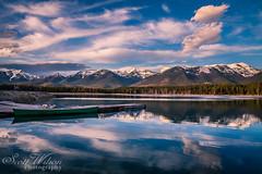 Reflections of Echo Lake, MT (Scott Wilson Photography) Tags: lake mountains reflection water montana peaks echolake bigskycountry snowcoveredpeaks