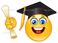Graduation emoticon (lala.juguan) Tags: school portrait people black cute college smile face hat sign yellow illustration ball happy design 3d high student holding hands graphics education university diploma head drawing expression robe character cartoon graduation ceremony certificate mortarboard icon highschool celebration cap badge smiley button graduate gown grad vector emoticon academic degree tassel smilies