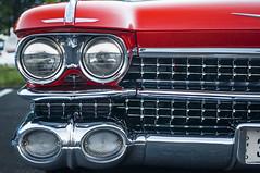 Brightwork overtime (GmanViz) Tags: color detail car nikon automobile headlights cadillac bumper chrome grille 1959 d90 gmanviz