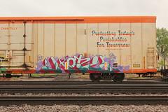 MOTEL (The Braindead) Tags: art minnesota train bench photography graffiti painted tracks minneapolis rail explore beyond the
