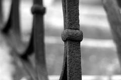 on that way (marcoaj) Tags: bw italy white black detail church monochrome 50mm mono rust iron stair dof pentax rusty step trento handrail belvedere f2 kr trentino ravina marcoajelli ajelli