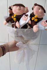 Bodas de Ouro (Fábrica de Artes by lubieska) Tags: casamento feltro santo bodas santinho antônio