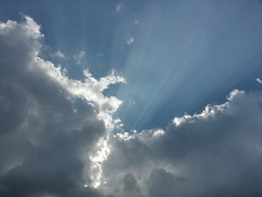 light rays (revjoecool) Tags: blue light sky sun sunlight clouds sunny rays flickrandroidapp:filter=none