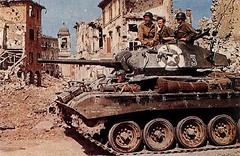 M24 Chaffee light tank of US Army 1st Armored Division in Bologna, Italy, late Apr 1945.