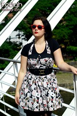 IMG_7880 (Neil Keogh Photography) Tags: bridge trees black sunglasses wall vintage cards canal dress gothic goth retro gothgirl pinup raybans pinupgirl newrocks lappost newrockboots manchestercitycenter castlefielddressmodeleve