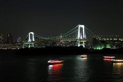 Rainbow Bridge (Masashi Hikita) Tags: bridge japan tokyo bay boat baybridge odaiba