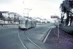 Once upon a time - Belgium - Charleroi Gare du Sud (railasia) Tags: belgium stopsign sixties stationsquare charleroi terminus stic metergauge traminfra routenº4 motorcartrailer