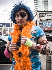#11 . halloween party (W.....) Tags: street portrait urban toronto halloween costume wig eyepatch peopleonthestreet 20131025