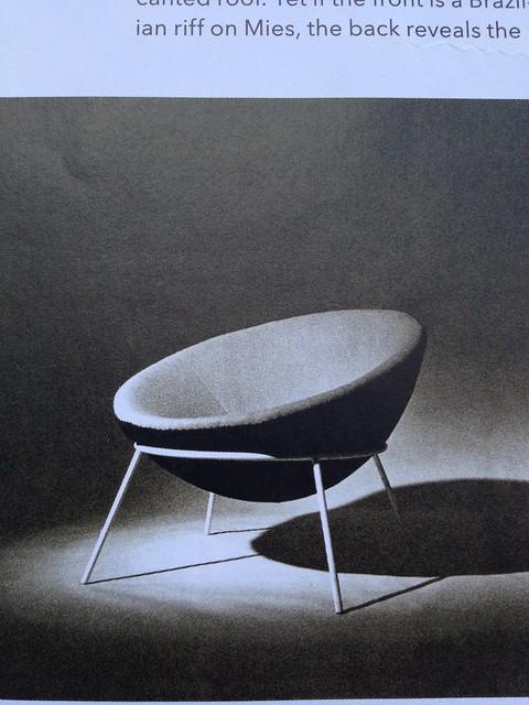 geometric chair livingroom