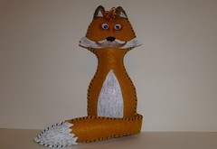 stuffed animal fox (HoppingTheFence) Tags: silly animal forest woodland for foxy stuffed friend adult plush gift fox mister mustache sir