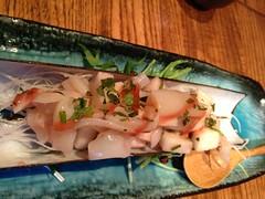 Razorclam sashimi