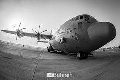 US Air Force (Lockheed C-130 Hercules) (aeroBahrain) Tags: sky plane airplane photography bahrain airport king aircraft aviation jet royal airshow airbus boeing cessna manama airbase facebook bombardier twitter instagram alfursan aerobahrain