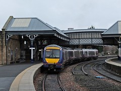 Testing Testing. (Kingfisher 24) Tags: station scotland footbridge scotrail perth platforms turbostar class170