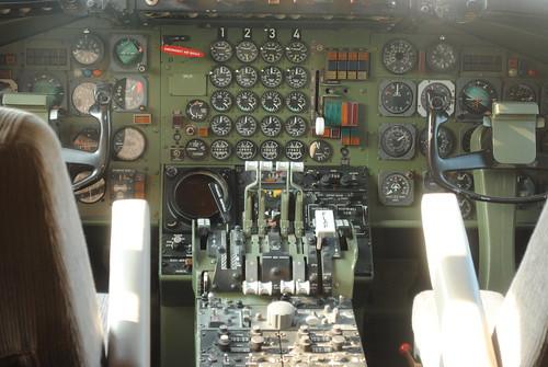 Cabina di pilotaggio Convair 990 A Swissair