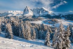 Snow on the Dolomites