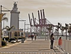 Farola (Orzaez212) Tags: lighthouse puerto farola olympus caminos paths seaport málaga filtro muelleuno