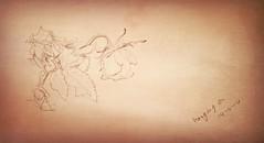 hanging on (Janine4d) Tags: art rose pencil paper drawing 8 daily hanging flickrandroidapp:filter=none zenzientekenen