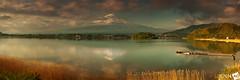 A S h o r t T e r m E f f e c t (AnthonyGinmanPhotography) Tags: panorama fuji mt mtfuji kawaguchiko novoflex lakekawaguchi nd110 bwnd110