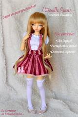 Facebook Giveaway! (Citrouille Sucre) Tags: pink cute clothing doll handmade pastel sewing crafts skirt lolita giveaway kawaii bjd fairyland msd balljointeddoll minifee minifeerheia