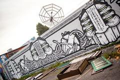 GATS North Oakland (Jeremy Brooks) Tags: california usa streetart graffiti oakland urbanart alamedacounty satellitedish gats sanpabloavenue