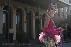 Strand Skater Starr (Paul McRae (Delta Niner)) Tags: sunglasses tattoo costume mardigras thestrand tutu starrnicol starrnicole starnicol