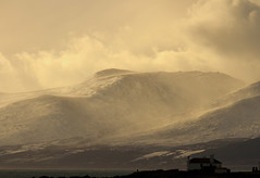 a snowy scene before the next storm (Explored 29/01/15) (jon lees) Tags: winter snow mountains mournemountains tyrella