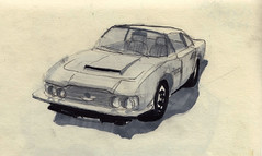 Aston Martin DBS (1971) (Namtra) Tags: brussels cars car pencil sketch belgium drawing marker oldtimer brssel classiccars belgien autoworld arnohartmann
