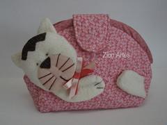 Necessaire gatinho (Zion Artes por Silvana Dias) Tags: gato bolsa gatinho necessaire necessairepatchwork zionartes necessairegatinho