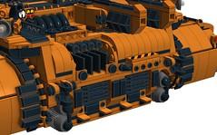 Goliath 14 (L33_Barton87) Tags: lego military goliath landcruiser futuristic antiaircraft ldd legotank