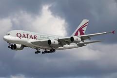 Qatar Airways - Airbus A380-861 A7-APE @ London Heathrow (Shaun Grist) Tags: london airport heathrow aircraft aviation airline airbus a380 aeroplanes lhr qatar londonheathrow qatarairways egll avgeek a7ape