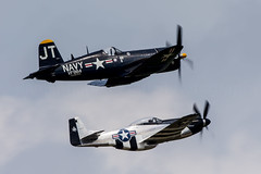 F4U-4 Corsair & P-51D Mustang (Rami Khanna-Prade) Tags: aviation quicksilver corsair airforce jetfighter lfi chancevought f4u4 p51dmustang avgeek aviationphotography planephotography langleyairforcebase langleyfield chancevoughtf4u4corsair avporn koreanwarhero klfi langleyafb airshow airshows langleyairshow hamptonroads airpower apohr2016 apohr2016 airpoweratjble