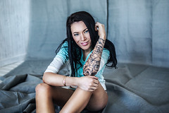 Awesome Oksana (LikClick Photography) Tags: woman sexy girl beautiful beauty female young indoors attractive