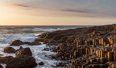 Giant Causeway Spring Sunset (Edouard Trichereau) Tags: uk ireland sunset sea sky irish rock giant rocks united side wave kingdom causeway