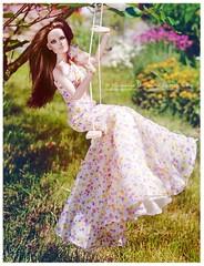 Suzette (Michaela Unbehau Photography) Tags: summer sun sunshine garden fun photography spring doll dolls dress outdoor sommer romance company frame 13 fashiondoll suzette michaela rahmen 2010 revlon schaukel tonner spas unbehau httpswwwfacebookcomdollimages httpswwwinstagramcommichaelaunbehau