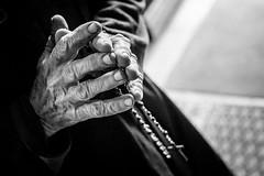 Hands. (Originalni Digitalni) Tags: old blackandwhite monochrome hands shadows cross skin god prayer religion praying fingers holy nails