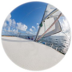 B36C4842 (WolfeMcKeel) Tags: ocean sea vacation keys bay spring key sailing florida fisheye lime largo 2016 buttonwood sailboot clubwater floridakeys2016vacationspring