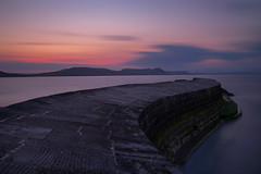 Lyme Regis Cobb (colinhalls) Tags: longexposure sea seascape sunrise harbour dorset cobb