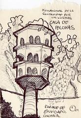 Pajarera en Parque de Envigado, Medelln, Colombia (marcelavargasrojas) Tags: colombia medelln sketch lapicero