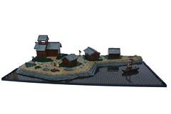 The Nine Kingdoms: Micro Village (-Balbo-) Tags: lego nine 9 steine creation rpg vikings der rohan ids moc kingdoms wikinger imperium neun reiche brandkste