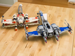 New and old X-Wings (Yuxuan.fishy.Wang) Tags: california us starwars unitedstates lego sanjose xwing 6212 75149