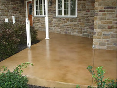 Desert sand bark brown and small amount of nutmeg (Decorative Concrete Kingdom) Tags: brown texture stain porch smiths
