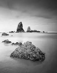 Cannon Beach OR (13 Photography) Tags: ocean sea white seascape black mamiya film analog nikon surf fuji neopan coolscan rz67 9000ed