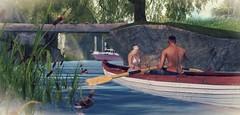 Tropical Summer Event (BijankRau | [ photograp'r model.]) Tags: summer shopping boat couple fair sl event tropical poses fetching 2016 tropicalsummer wedosl