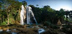 The Anisakan Falls (m_haefeli) Tags: world green water temple pagoda waterfall asia asien wasserfall burma falls explore myanmar grn birma mandalay tempel pyinoolwin anisakan