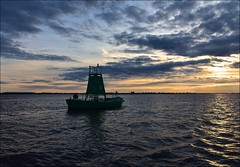 Floating Buoy 27 (Nanny Bean) Tags: clouds dawn tide cormorant hull owls humberbridge goole eastridingofyorkshire northlincolnshire riverhumber deepchannel floatingbuoy