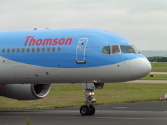 Thomson G-OOBB (North West Transport Photos) Tags: man plane airplane manchester taxi aircraft aviation 05 flight jet aeroplane thomson boeing takeoff runway 757 hurghada manchesterairport boeing757 egcc 757200 aircraftspotting 05l viewingpark 75728a b752 manchesterringway runway05l thomsonairways goobb runwayviewingpark by790
